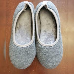 Isotoner Grey Rubber Flex Bottom Slippers